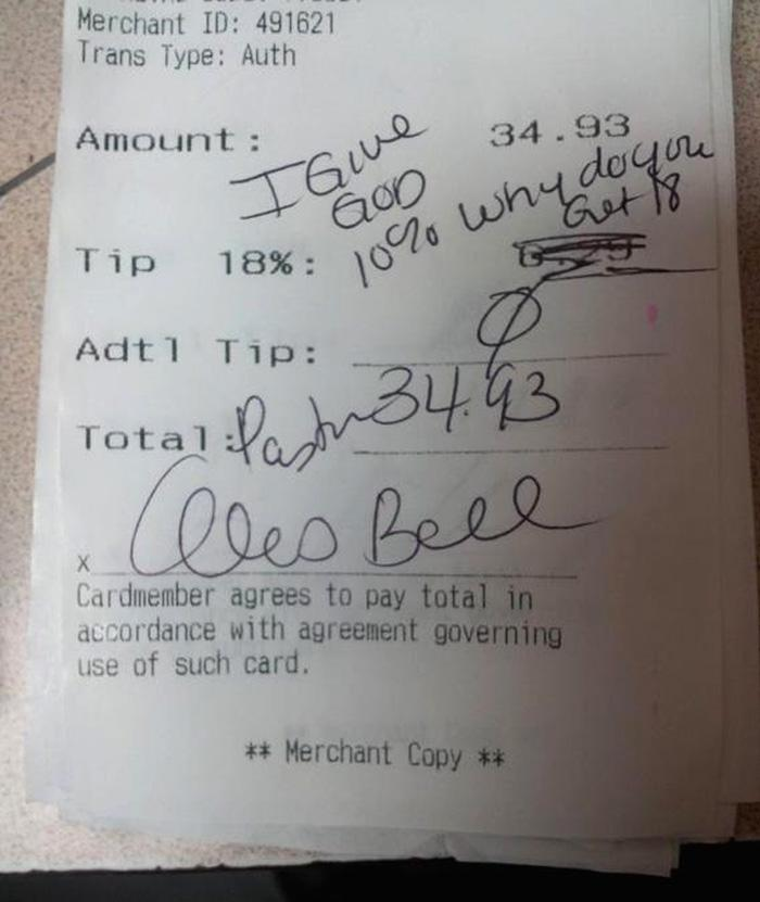 applebees reciept